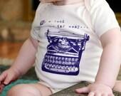 ORGANIC Typewriter Onesie