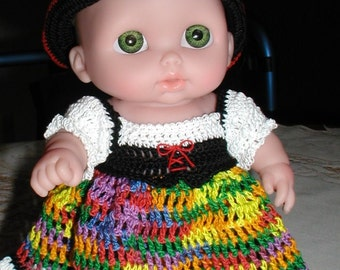 PDF PATTERN Crochet 8  8.5 inch Berenguer Doll Thread Pirate Gypsy Girl Outfit
