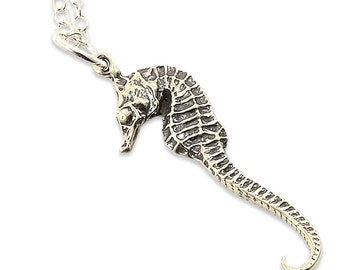 Seahorse Necklace Seahorse Jewelry Seahorse Pendant Beach Jewelry Seahorse Charm Sterling Silver Seahorse Sea Horse Charm