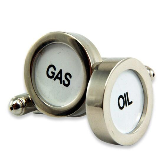 Gas & Oil Cufflinks Cash Register Key Cufflinks - Oil and Gas - by Gwen DELICIOUS Jewelry Design
