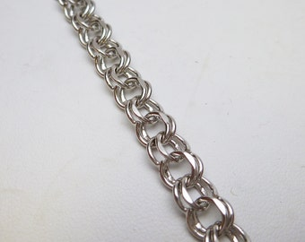 Elco Sterling Silver Double Link Charm Bracelet