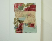 Sending Joy - fabric collage card