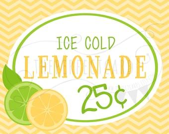 Lemonade Stand 2 Printable Set - INSTANT DOWNLOAD