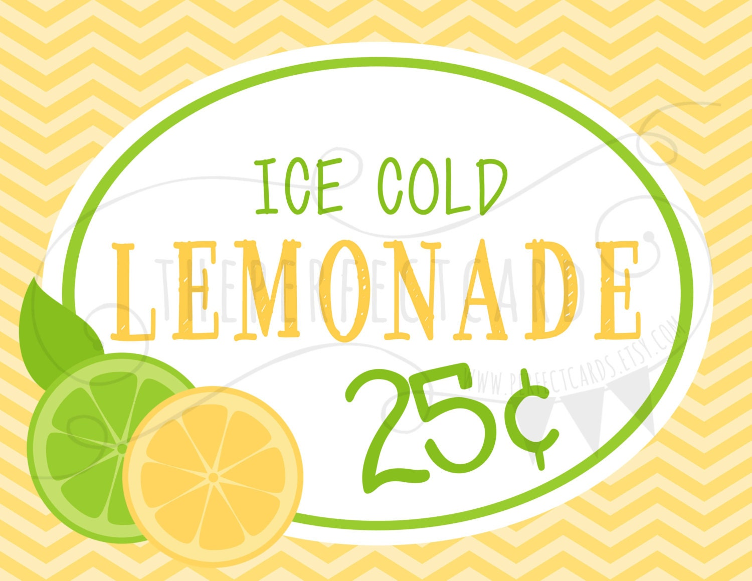 Lemonade Stand 2 Printable Set INSTANT DOWNLOAD