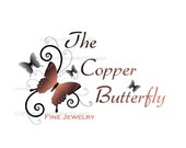 Premade Etsy Business Shop Logo 15 Butterfly colors to choose from - Copper Butterfly