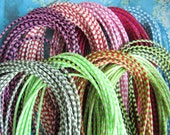 New Style --10pcs 1.5mm 16-18 inch adjustable assorted(10 colors available) korea wax string snake necklace cords lobster clasps included