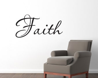 Faith Wall Decal - Christian Wall Decal - Faith Wall Sticker - Medium