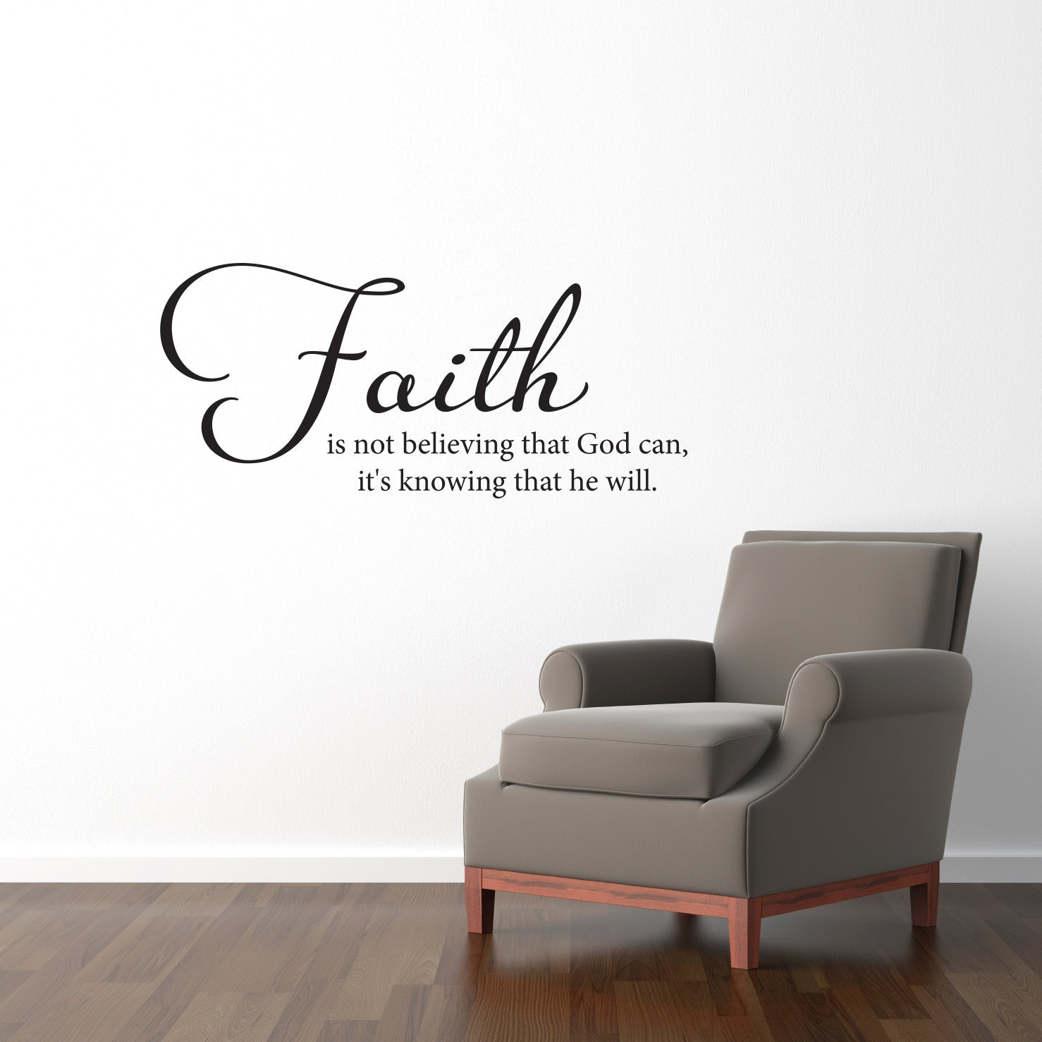 Faith wall decal faith is not believing that god can zoom amipublicfo Images