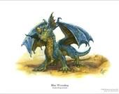 Baby Blue Dragon 8.5 x 11 Print