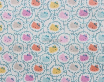 Liberty tana lawn printed in Japan - Wall Flower - Pastel blue mix