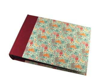 floral Photo Album Summerflower teal red photo book, photo book, instax guest book, instax photo album, polaroid guest book, baby album
