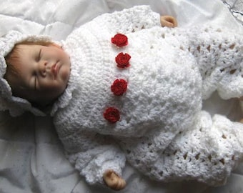 Crochet Pattern Olivia Crochet Romper - Sold in aid of TYR CAPEL SANCTUARY Charity -  Playsuit and headband for Baby/Reborn Doll