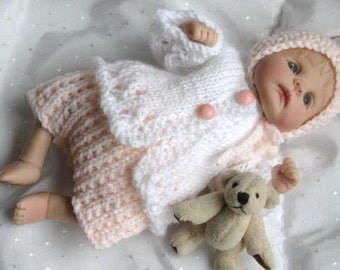 PASTEL PIXIE Knitting Pattern for 7 to 8 inch Baby doll, ooak clay Baby Doll PDF