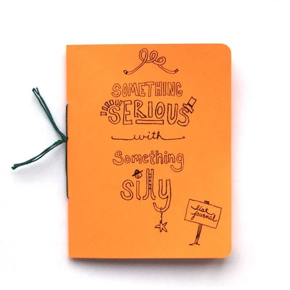 Doodle List Journal - Something Serious with Something Silly - Orange
