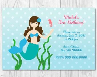 Printable Under the Sea Mermaid Invite DIY