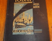 Vintage Our World Today Geography 1935 School Book Maps Photo Prop