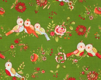 Love and Joy from Westminster and Dena Fishbein, Bird in Green, 1/2 yard