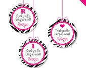"Zebra Party in ANY COLOR - Personalized DIY printable 2"" favor circles"