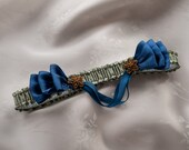 Green and Blue Silk Bridal Garter