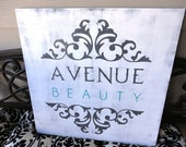 Business Sign, Custom Business Advertisement Sign, 2 foot X 2 foot. Vendors, Salons and Craft Shows.