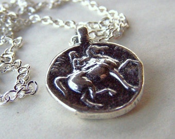 Horse Jewelry Equestrian Necklace Horse Necklace Horse Lovers Pewter Horse on Silver Chain Dressage Equine
