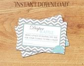 INSTANT DOWNLOAD - Baby Boy Diaper Raffle Tickets