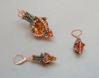 Jeannie (beaded pendant/ earrings)/ PDF file