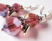 Inspirational Jewelry Amethyst Gemstone Look Grateful Guardian Angel Earrings Gifts For Her Under 15 Wings Fairies Guardians Purple Crystal