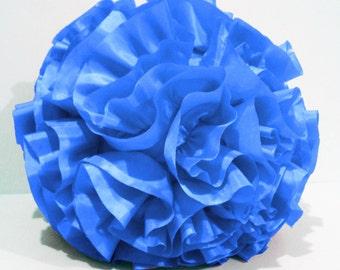 aqua blue round pillow ,home decor pillow, decorator pillow, retro wedding,bedroom pillow,silk cushion,circle pillow,stuffer pillow,pouf