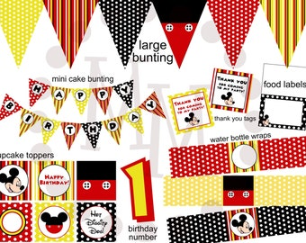 Mickey Mouse PRINTABLE Party Pack