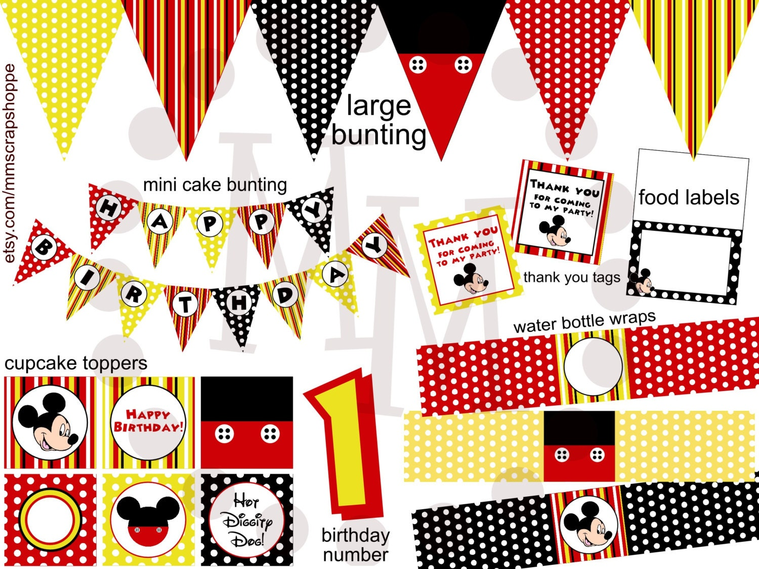 It's just a picture of Refreshing Mickey Mouse Party Printables