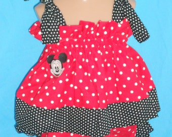 Boutique OOAK Custom Made Babydoll Mickey Mouse Set