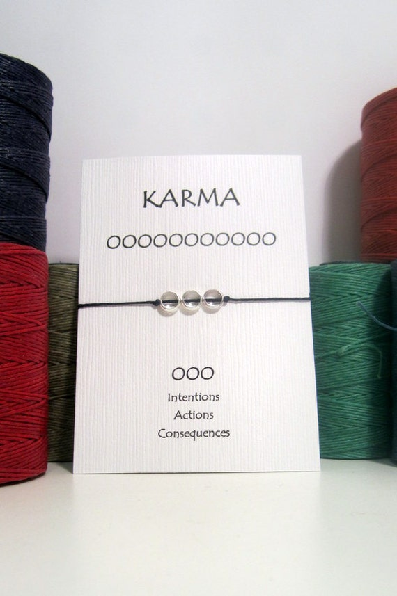 Silver 3 Circle Karma Bracelet