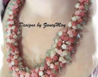 Hawaiian Lei Necklace, Beading Tutorial in PDF