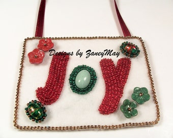 "Signs of the Season ""Joy"" Ornament, Beading Tutorial in PDF"