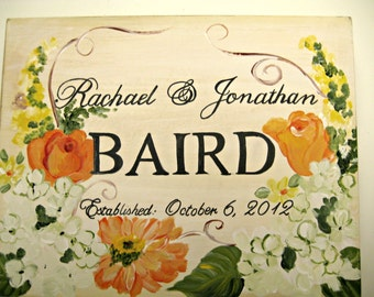 hand painted ,wedding keepsake box, with autumn colors,dahlias,white hydrangeas,autumn wedding gift,wedding memory box,bridal couple gift