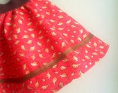 Red Bird Twirl Skirt - 1 - 3 Years