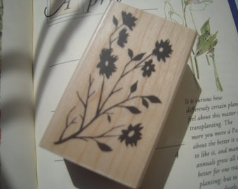 Beautiful Japanese Wooden Rubber Stamp - Flowers for invitation, card making, scrapbooking