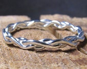 Braided Argentium Sterling Silver Stacking Ring