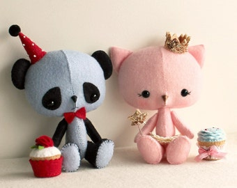 The Princess and the Panda pdf Pattern - Instant Download
