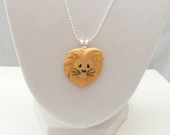 nnm-Lion Pendant on a Silver Plated Chain