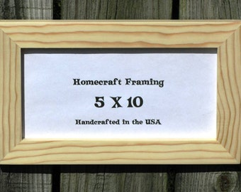 5x10 picture frame unfinished wood frame wedding frame rustic cottage chic