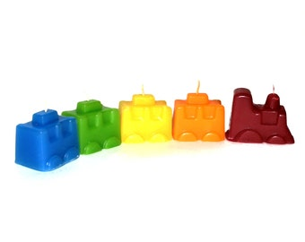 SALE: Double Birthday train candles set - designed & made in Israel (2 sets for this special price)