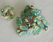 Vintage Brooch and one Coro clip earring for use as a bra clip REE SHIPPING