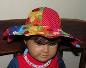 "Hat Pattern for American Girl Dolls  and Other 18"" Dolls Sun Shiny Hat"