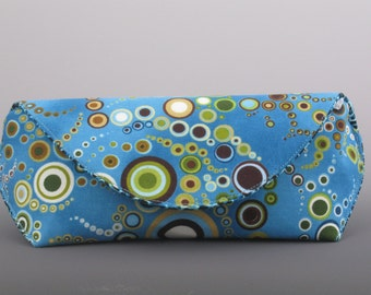 Sunglass case in Amelia Caruso Effervescence- Blue- Made to order