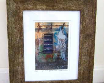 Graffiti Grotto TEL AVIV  photo signed phipps y moran Street Art Flipping Gypsy Photography Matted & Framed Great Gift