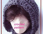 crochet PATTERN number 36, Hat hoodie, adult size,  see pattern number 28 for child size INSTANT DOWNLOAD