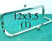 12x3.5 inch Nickel-free metal purse frame(TM) kisslock