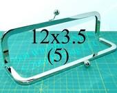 5 Nickel-free 12x3.5 inch metal purse frame(TM) kisslock
